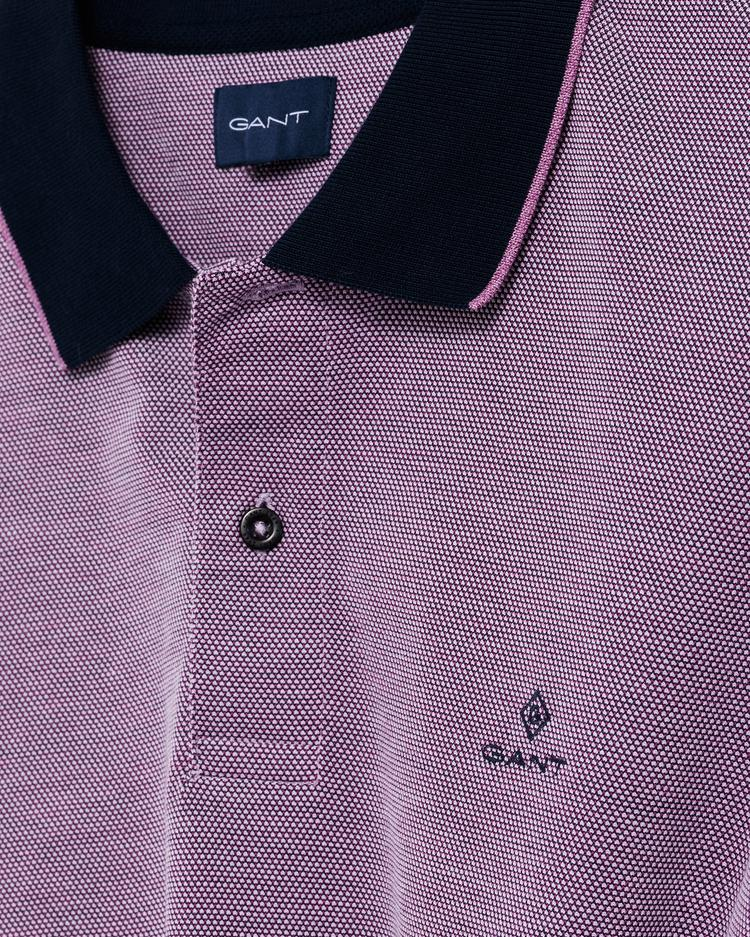 GANT Erkek Mor Regular Fit Pique Rugger Polo