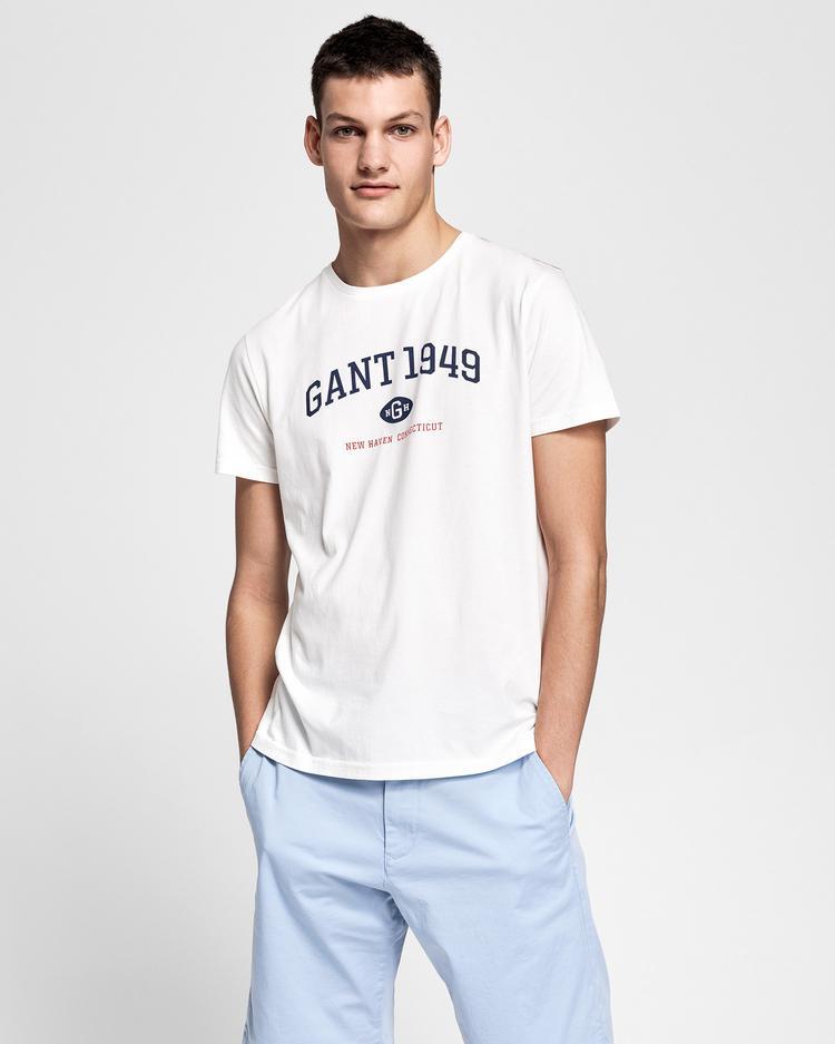 GANT Erkek Krem Rengi Regular Fit 1949 T-Shirt