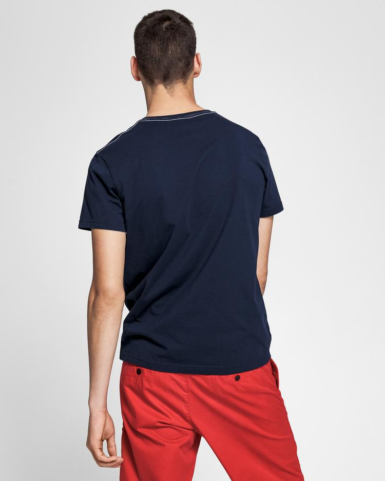 GANT Erkek Lacivert Regular Fit 1949 T-Shirt
