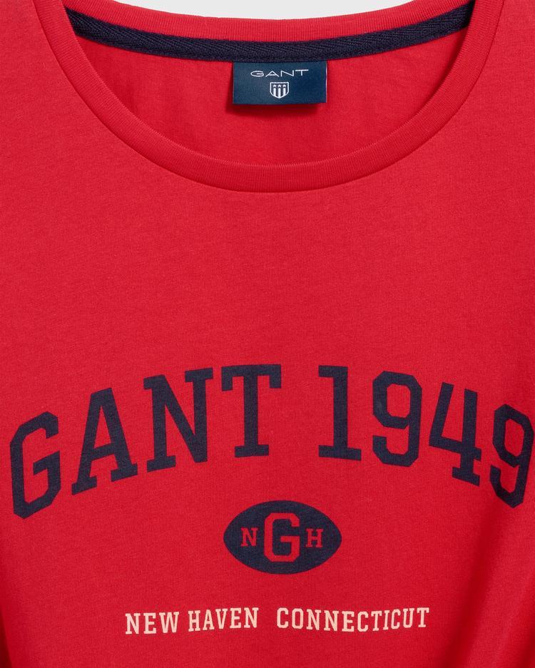 GANT Erkek Kırmızı Regular Fit 1949 T-Shirt