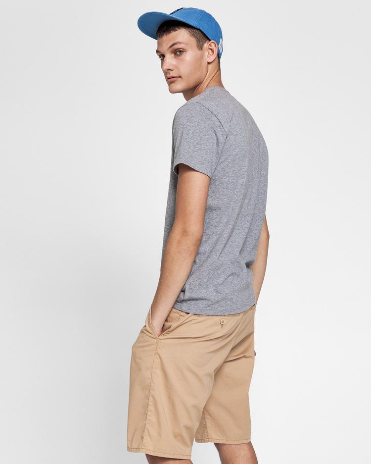 GANT Erkek Gri Melanj T-Shirt