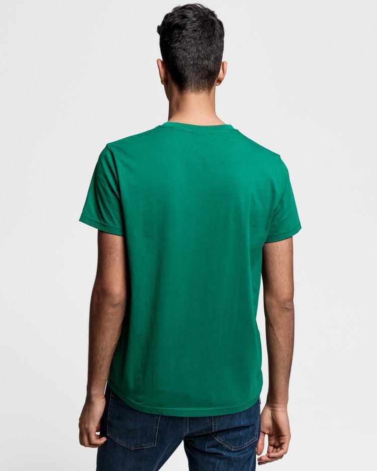 GANT Erkek Yeşil Grafik Baskılı T-Shirt