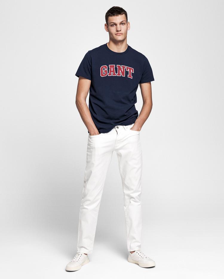 GANT Erkek Lacivert Grafik Baskılı T-Shirt