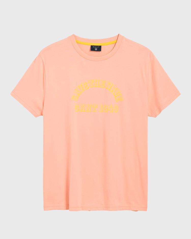 GANT Erkek Şeftali Rengi Surf T-Shirt