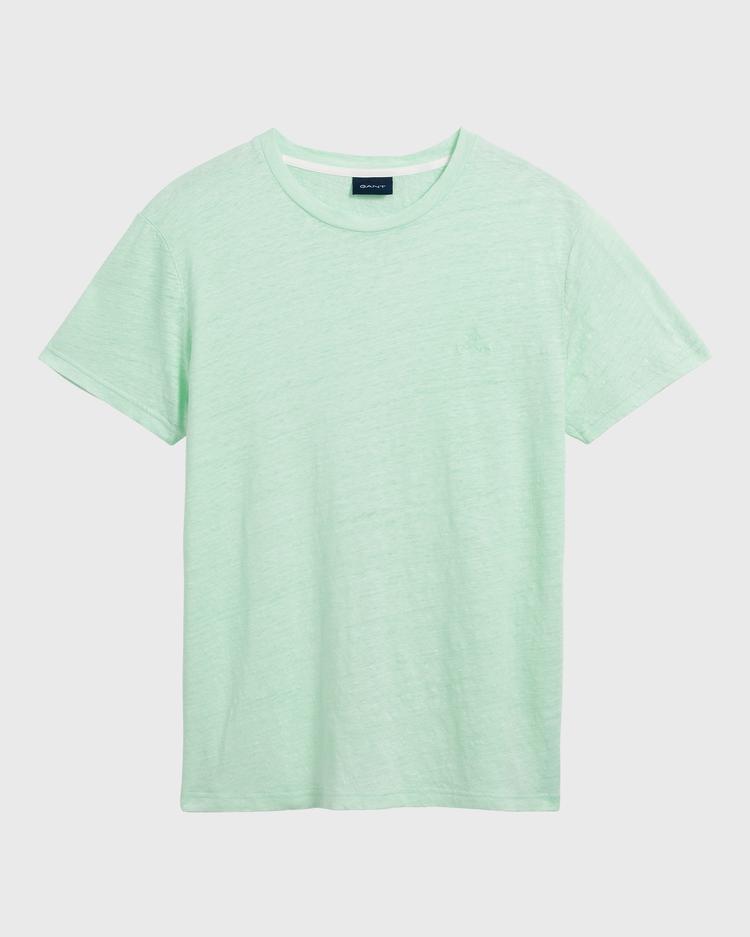 GANT Erkek Yeşil Keten T-Shirt