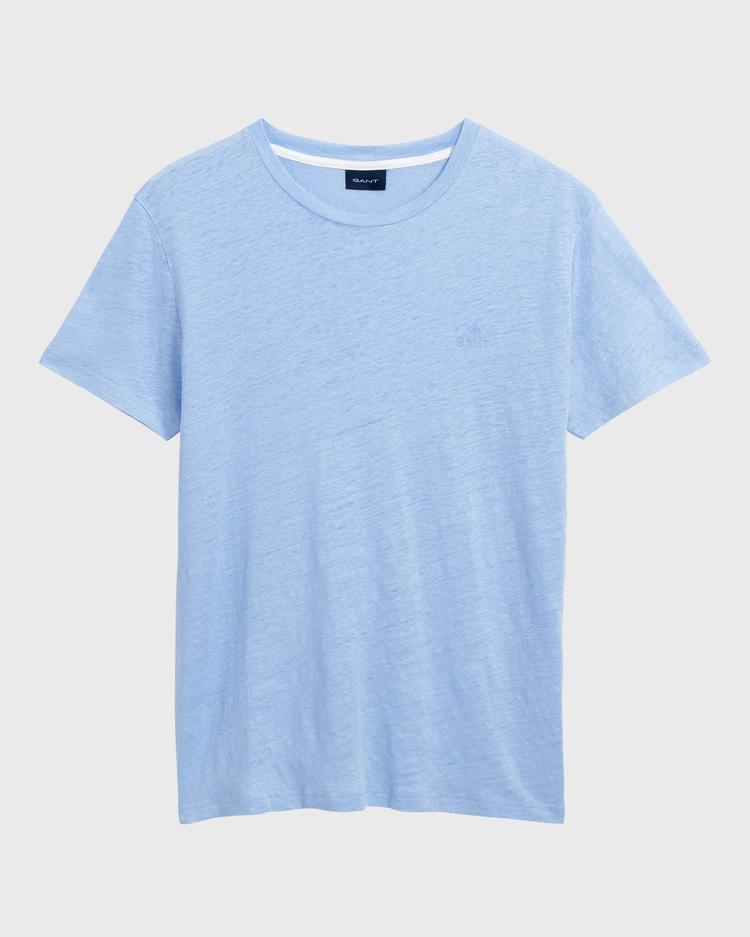 GANT Erkek Açık Mavi Keten T-Shirt