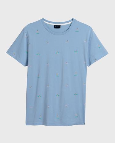 GANT Erkek Açık Mavi T-Shirt