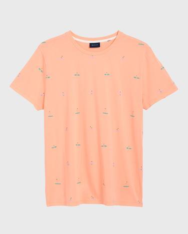 GANT Erkek Şeftali Rengi T-Shirt