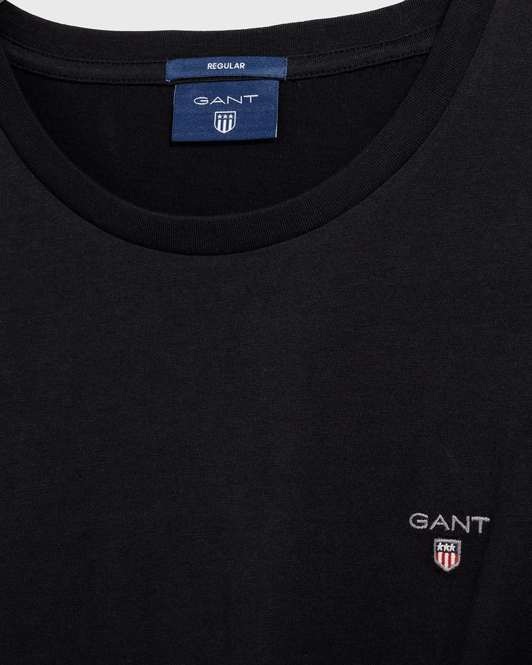 GANT Erkek Siyah Regular Fit T-Shirt