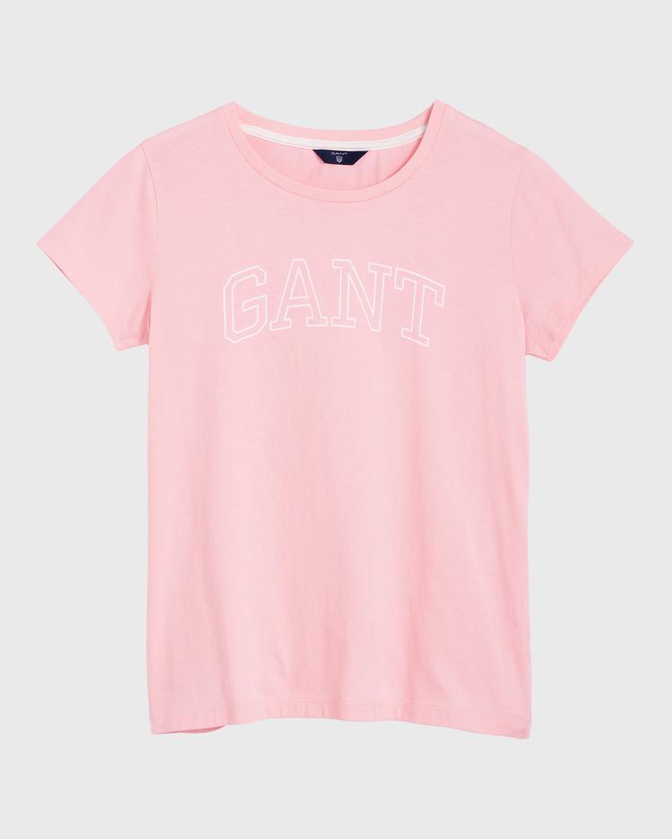 GANT Kadın Pembe Logo Baskılı T-Shirt
