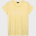 GANT Kadın Sarı Logo Baskılı T-Shirt