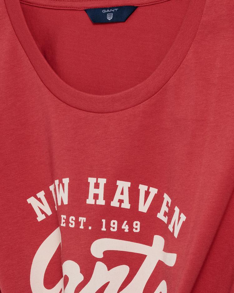 Gant Kadın Kırmızı Logo T-Shirt
