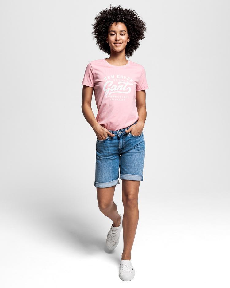 GANT Kadın Pembe Logo T-Shirt