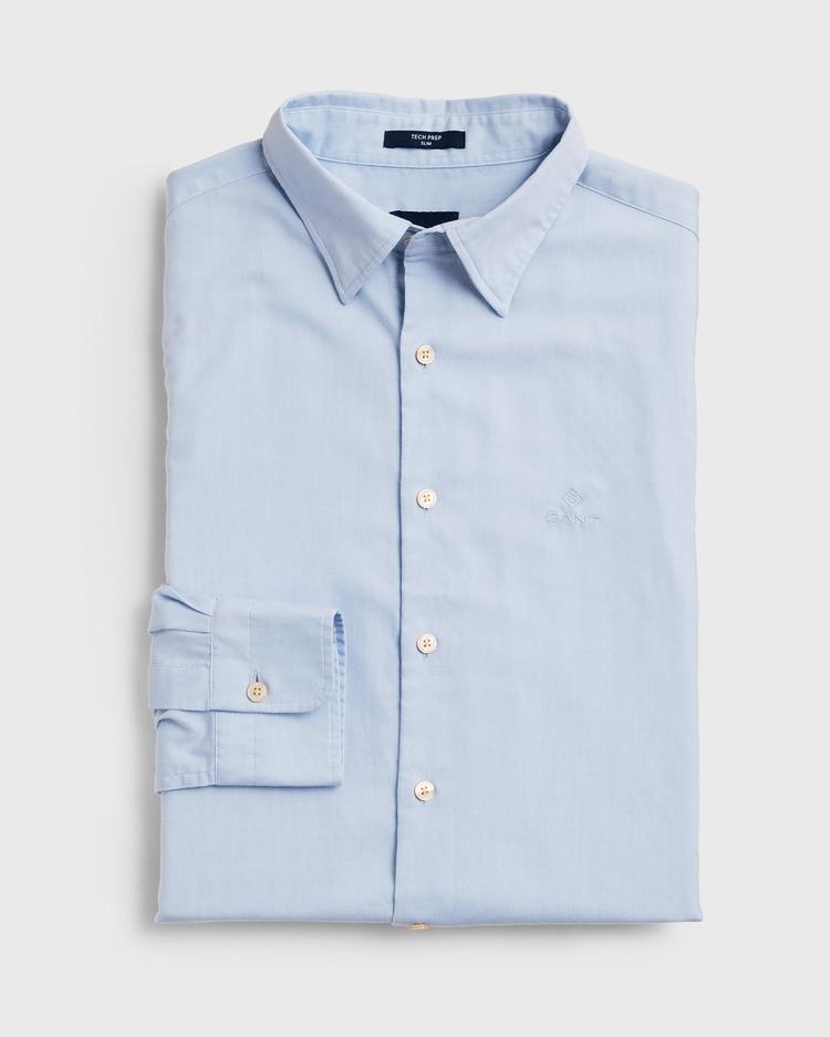 GANT Erkek Açık Mavi Slim Fit Tech Prep Oxford Gömlek