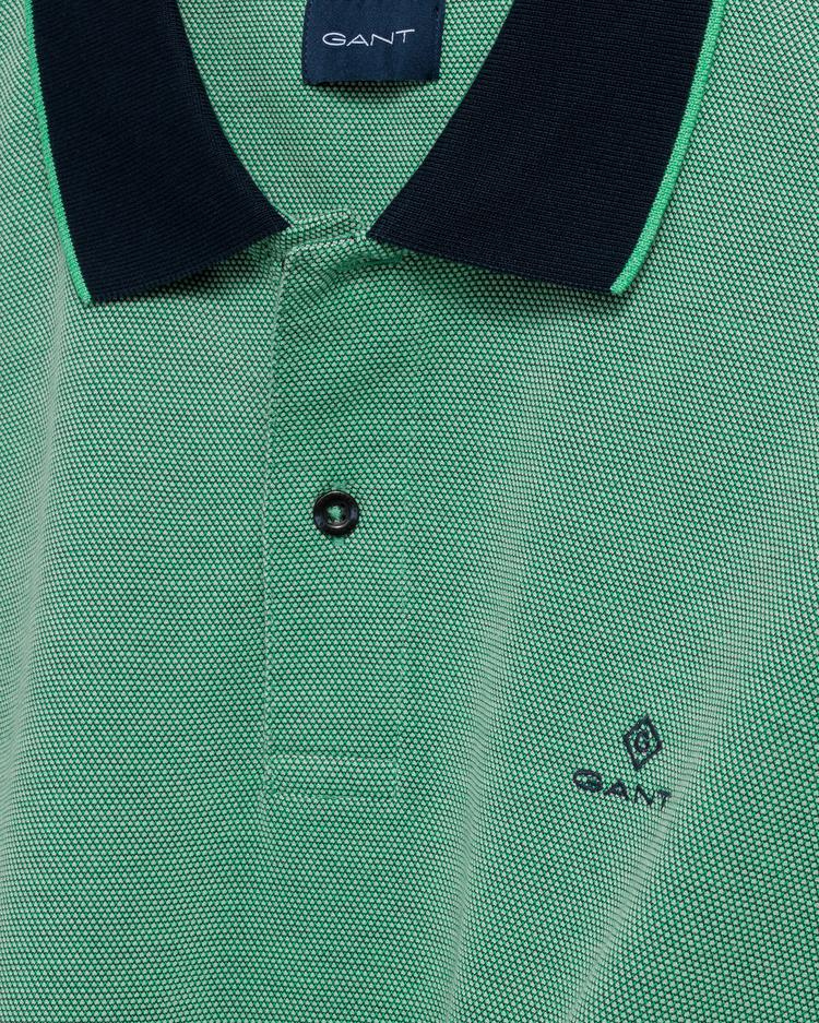 GANT Erkek Yeşil Regular Fit Pique Polo