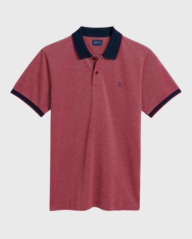GANT Erkek Kırmızı Regular Fit Pique Polo
