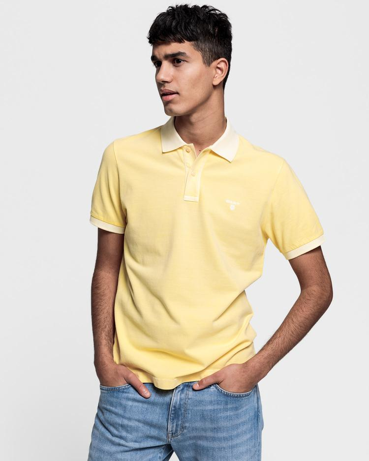 GANT Erkek Sarı Regular Fit Pique Rugger Polo