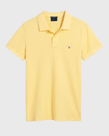 GANT Erkek Sarı Slim Fit Pique Polo