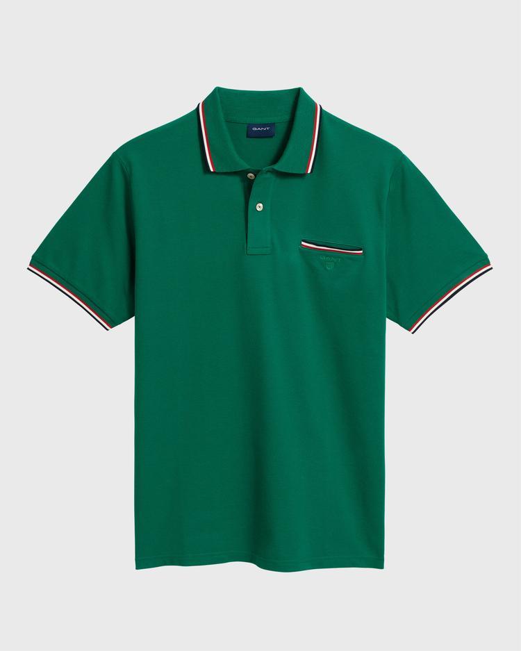 GANT Erkek Yeşil Pique Rugger Polo