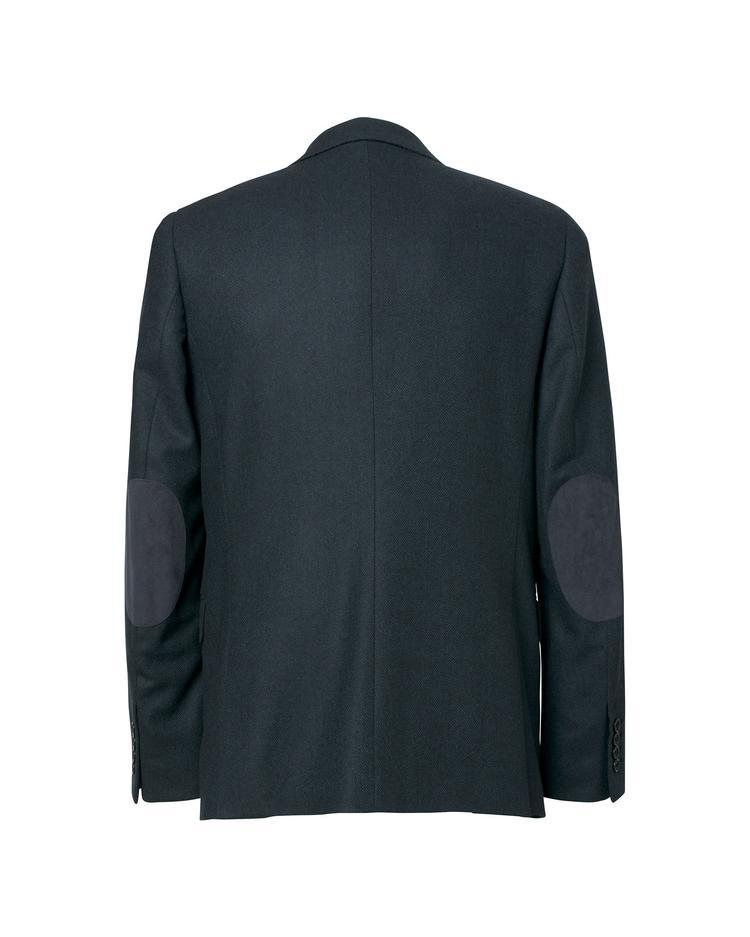 Erkek Lacivert Herringbone Blazer Ceket