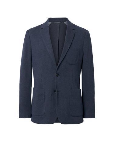 GANT Erkek Lacivert Balıksırtı Blazer Ceket