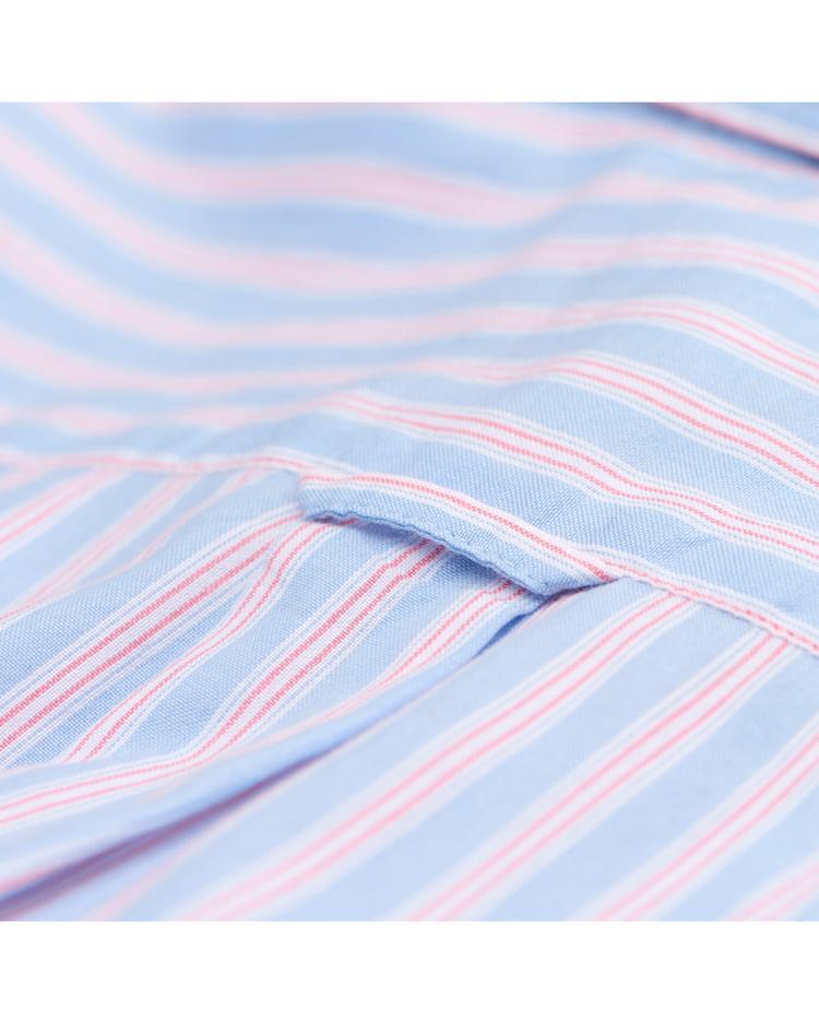 GANT Erkek Mavi Pembe Çizgili  Windblown Oxford Stripe Gomlek