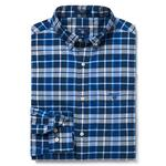 Gant Erkek Mavi Regular Winter Twill Plaid Gömlek