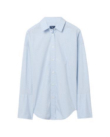 Gant Kadın Tech Prep Dobby Mavi Puantiyeli Gömlek