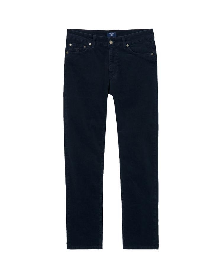 GANT Erkek Lacivert Kadife Slim Pantolon