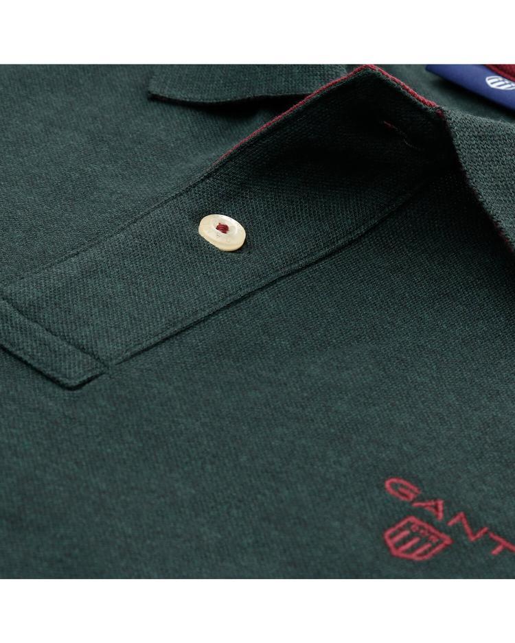 GANT Erkek Yeşil Original Piqué Rugger Uzun Kollu Polo Sweatshirt