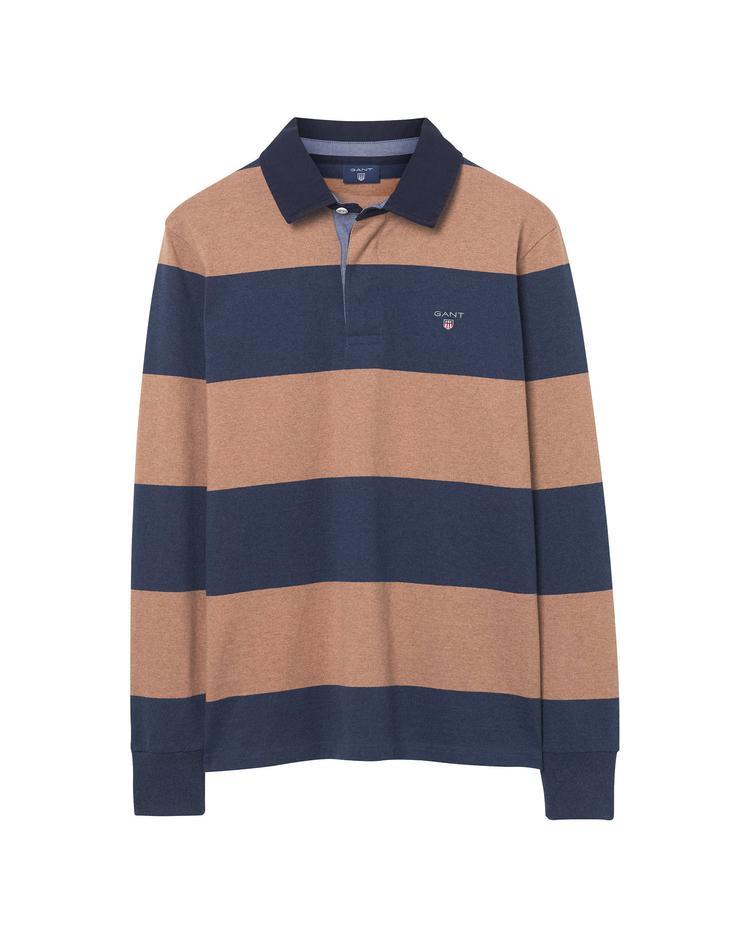 Gant Erkek Bej Lacivert Çizgili Sweatshirt