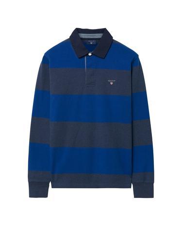 Gant Erkek Mavi Gri Çizgili Sweatshirt