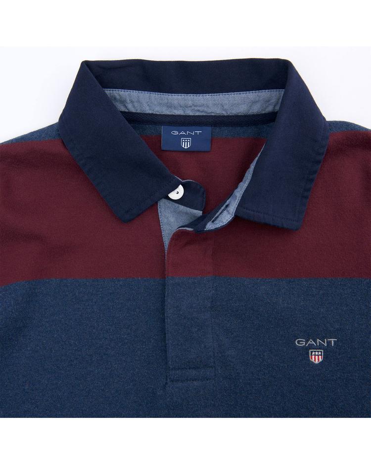 Gant Erkek Bordo Lacivert Çizgili Sweatshirt