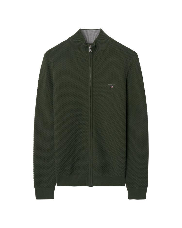 Erkek Triangle Texture Yeşil Sweatshirt