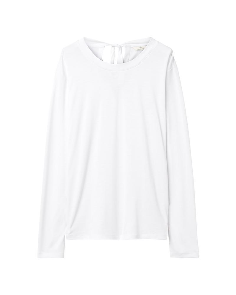 Kadın Beyaz Back Not Ls Top Bluz