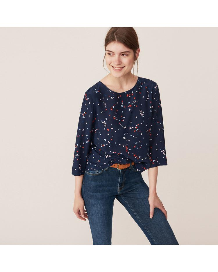 GANT Kadın Lacivert Desenli Bluz