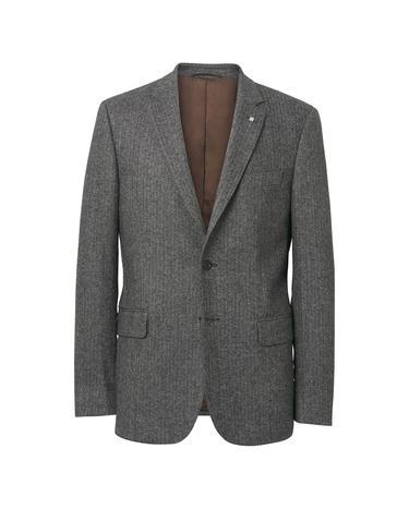 Erkek Gri Herringbone Blazer Ceket