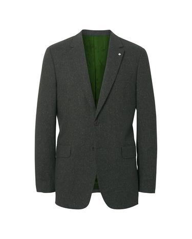 Gant Erkek Gri Slim Donegal Blazer Ceket
