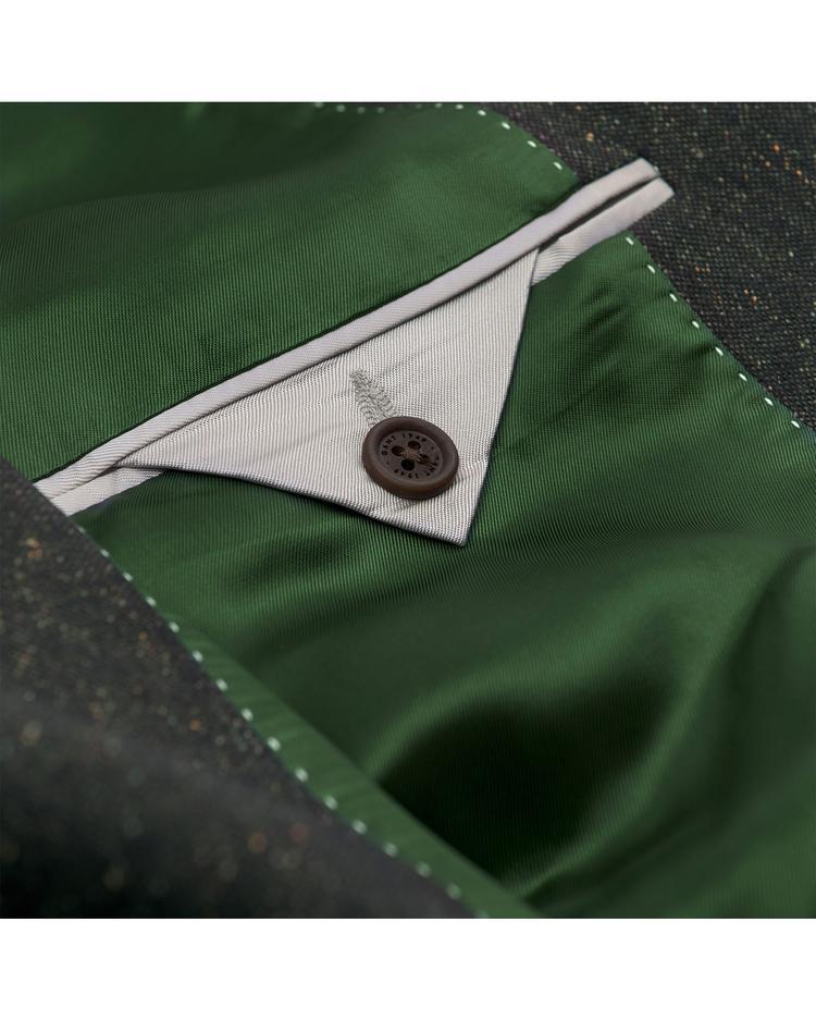 Erkek Gri Slim Donegal Blazer Ceket