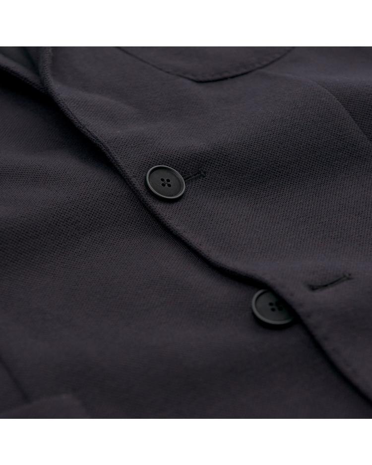 Erkek Lacivert Slim Woollen Jersey Blazer Ceket