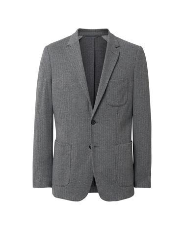 Gant Erkek Gri Slim Herringbone Blazer Ceket