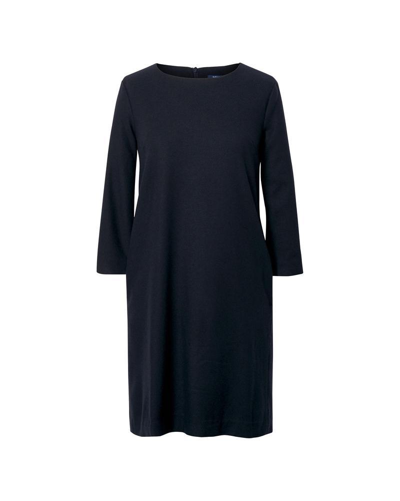 Kadın Lacivert Washable Flannel Dress Elbise