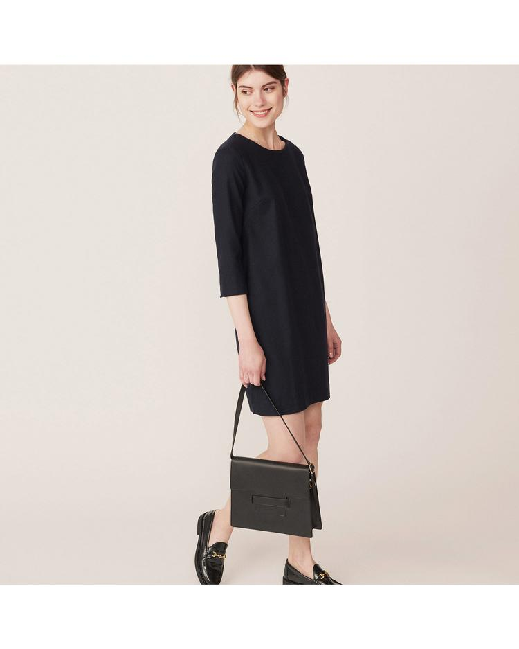 GANT Kadın Lacivert Washable Flannel Dress Elbise