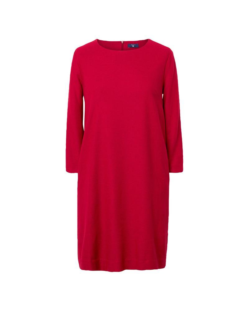 Kadın Kırmızı Washable Flannel Dress Elbise