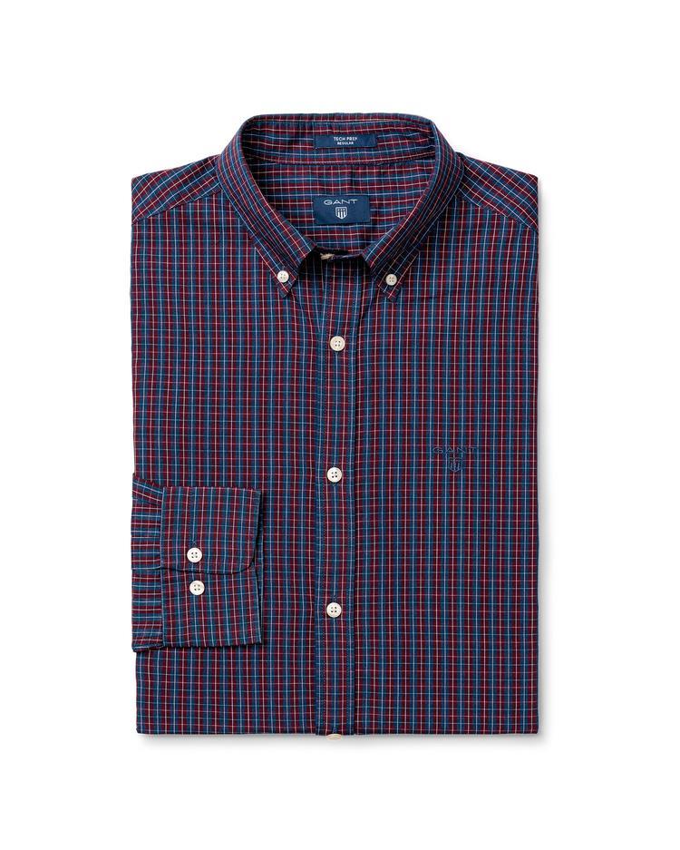 Gant Erkek Renkli Regular Tech Prep Broadcloth Indigo Gömlek