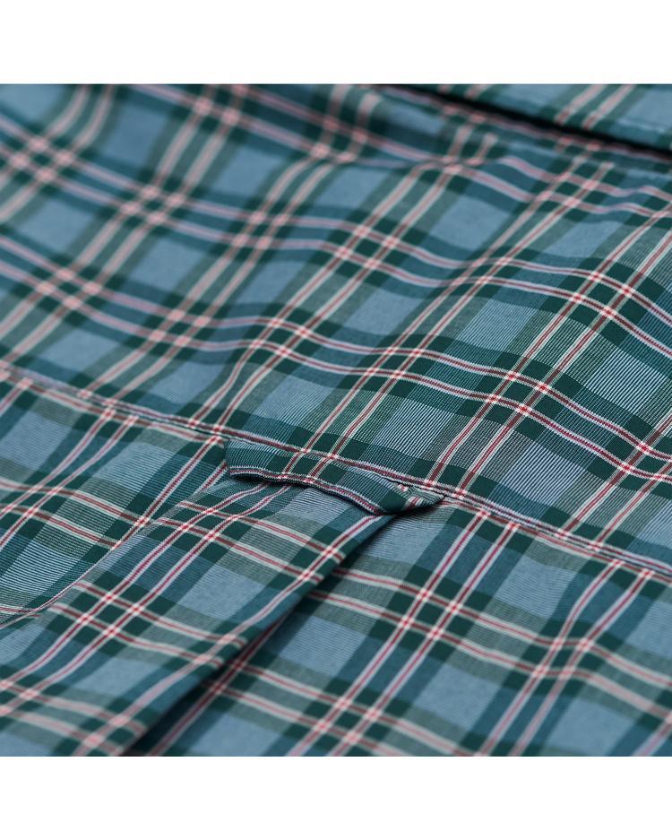 Erkek Yeşil Kareli Broadcloth Check Reg Gomlek