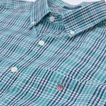 Gant Erkek Yeşil Kareli Broadcloth Check Reg Gomlek
