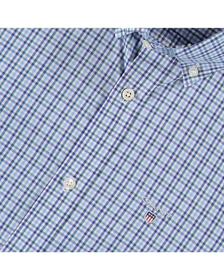 Erkek Mavi Kareli Gömlek
