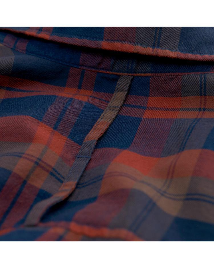 GANT Kadın Kareli Lacivert Gömlek