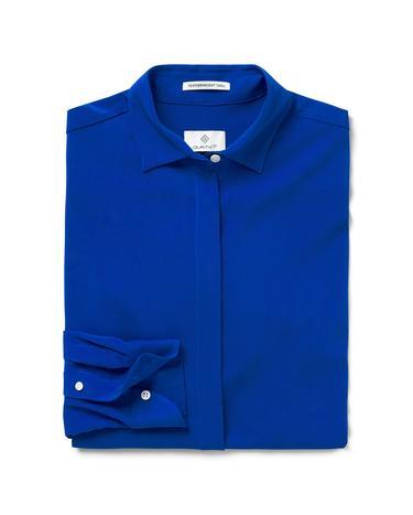 Kadın Mavi Featherweight Twill Blouse Gömlek